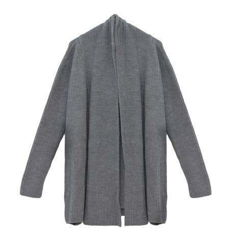 SophieB Grey Heavy Open Long Knit