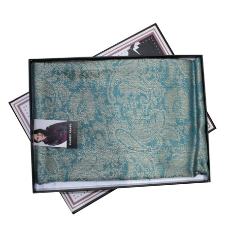 Something Special Teal Pattern Scarf
