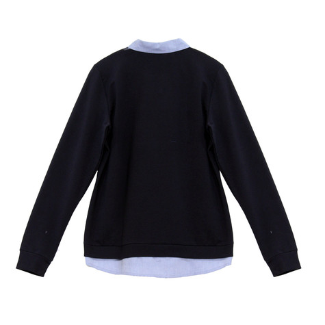 Twist Navy 2 in 1 Patch Navy Knit