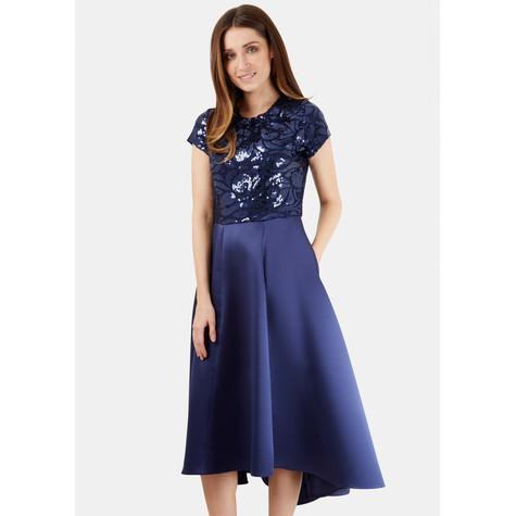 Closet Navy Sequin Top Dress | Pamela Scott