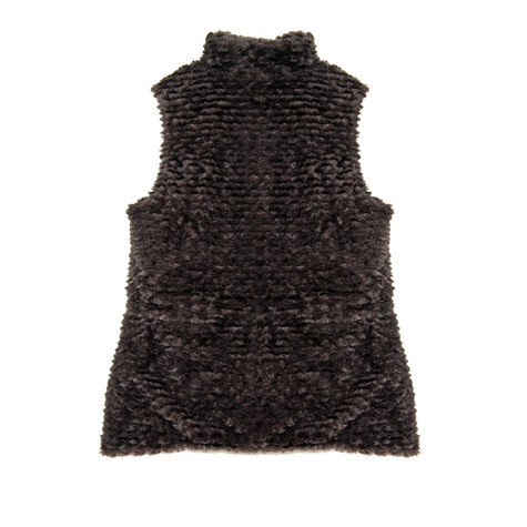 Casual Identity Chocolate Reversible Rousso Waistcoat - NOW €40