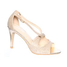 Moow Gold Cross Strap Glam Shoe