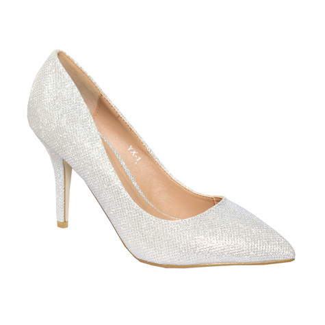 Forever Follie Silver Glam Court Shoe