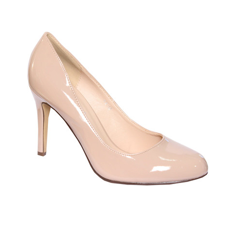 Forever Follie Beige Patent Court Shoe