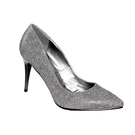 Moow Pewter Glam Court Shoe Shoe