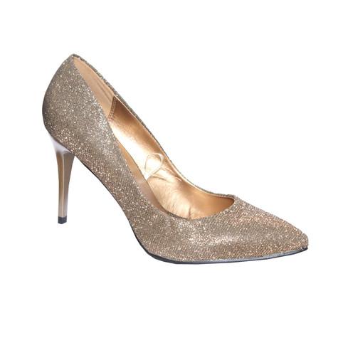 Moow Bronze Glam Court Shoe Shoe