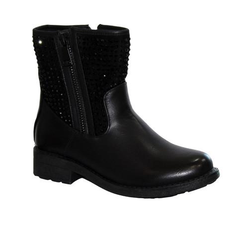 Abloom Black Biker Look Glam Boot