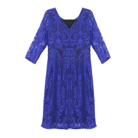 Sangria Royal Blue Lace Dress