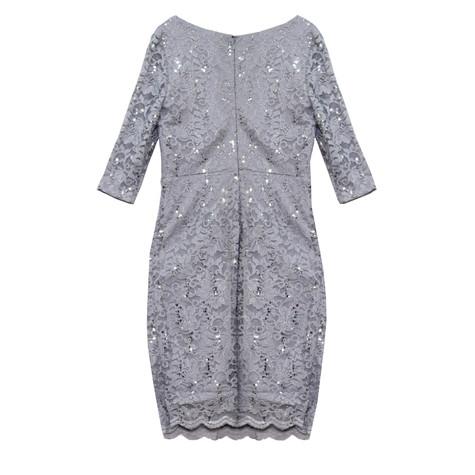 Sangria Grey & Silver Sequence Dress