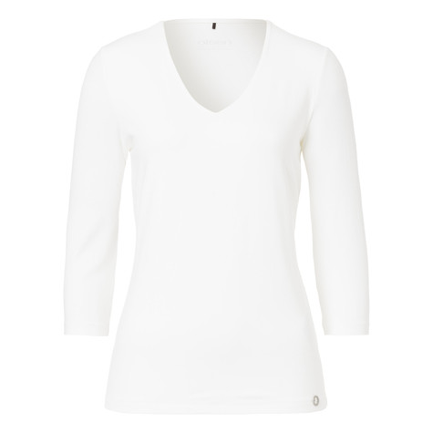 Olsen VISCOSE T-SHIRT ¾-ARM - OFF WHITE