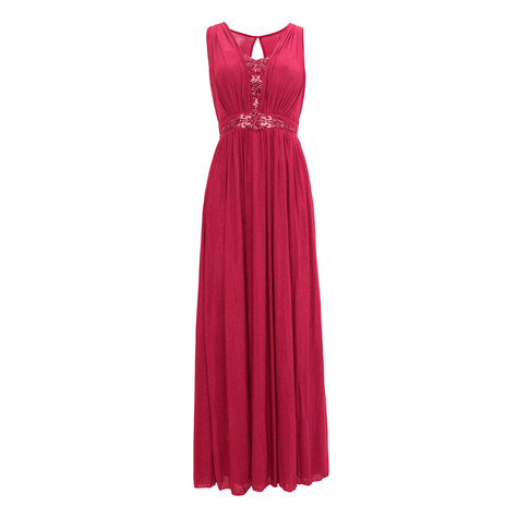 Max And Lola Berry V-Neck Bead Detail Dress
