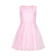 Yumi Girls Soft Pink Stripe Dress