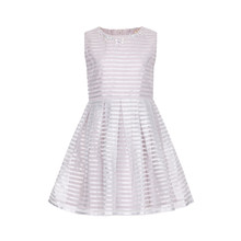 Yumi Girls Light Grey Stripe Dress