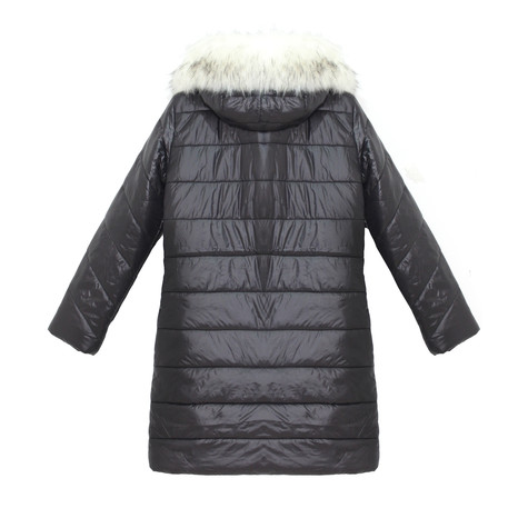 Kelya White & Black Fun Fur Winter Coat - NOW €65 -