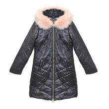 Kelya Rose & Black Fun Fur Winter Coat - NOW €65 -