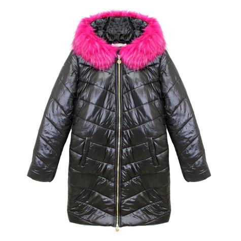 Kelya Fushia & Black Fun Fur Winter Coat - €65 -