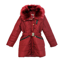 Kelya Wine Fun Fur Winter Coat - €70 -