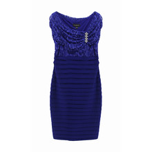 Scarlett Royal Blue Bella Lace Pleat Dress