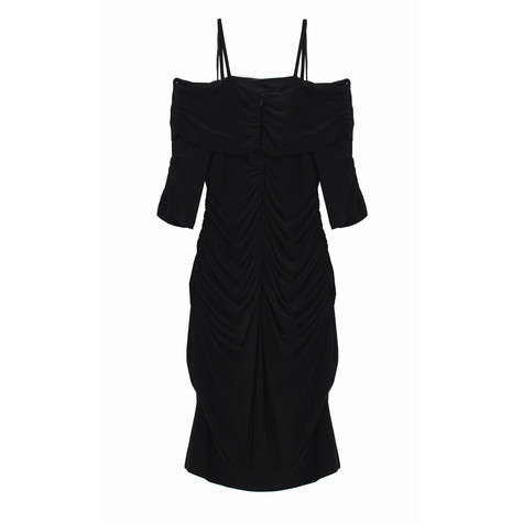 Scarlett Black Cold Sleeve Ripped Dress