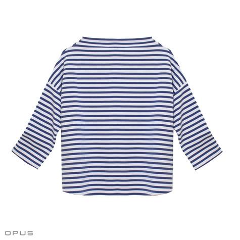 Opus Gesini Violet Blue Stripe Sweatshirt