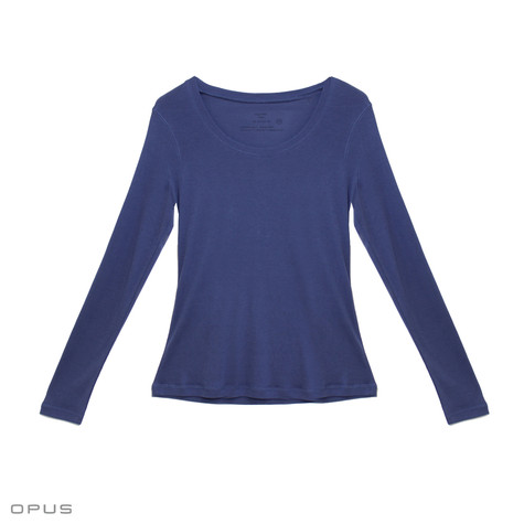 Opus Sorana Long Sleeve Blue Sweat Top