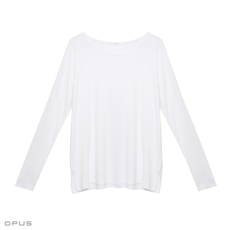 Opus Stine White Long Sleeve Top