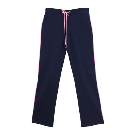 Pamela B Navy & Soft Pink Stripe Bottoms