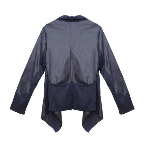 SophieB Navy Suede Panel Jacket