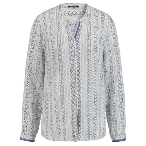 Olsen BLOUSE CROCHET TRIM - DENIM
