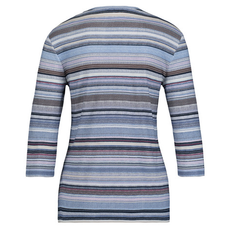 Olsen COTTON TOP STRIPED - DENIM