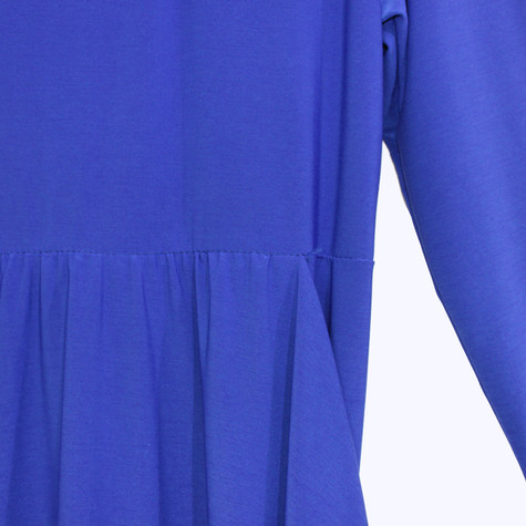 Flam Mode Royal Blue Round Neck Jersey Dress
