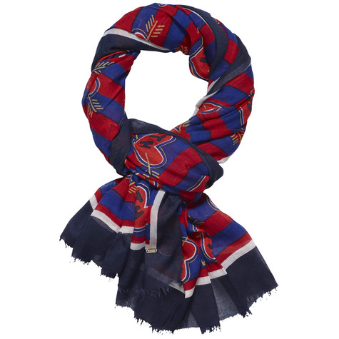 Tommy Hilfiger Navy & Red Love Heart Patterned Scarf