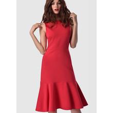 Closet Red Cold Shoulder Dress