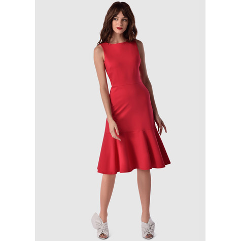 Closet Red Cold Shoulder Dress
