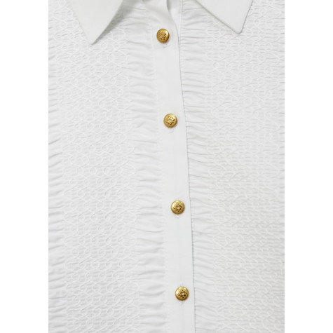 Tinta Style Gold Button up Collar Top
