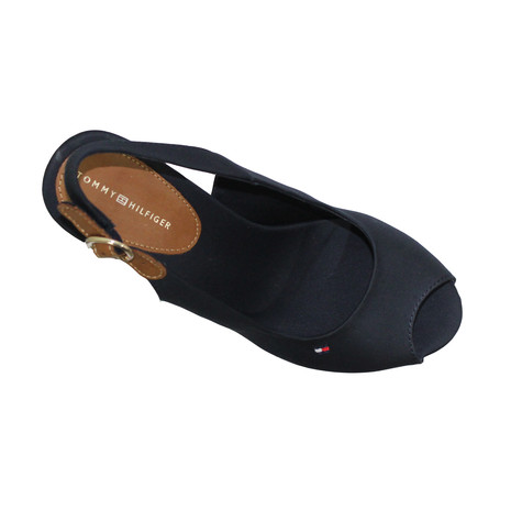Tommy Hilfiger Midnight Textile Wedges