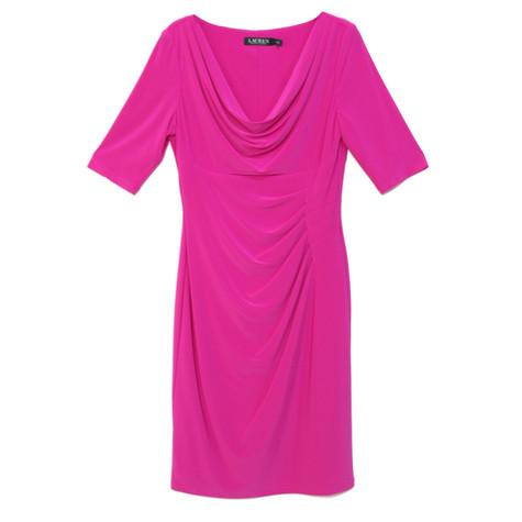 Lauren by Ralph Lauren Pink Ripple Soft Sleeve Dress