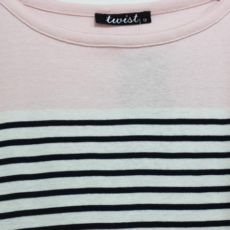 Twist Pink Colour Block Top