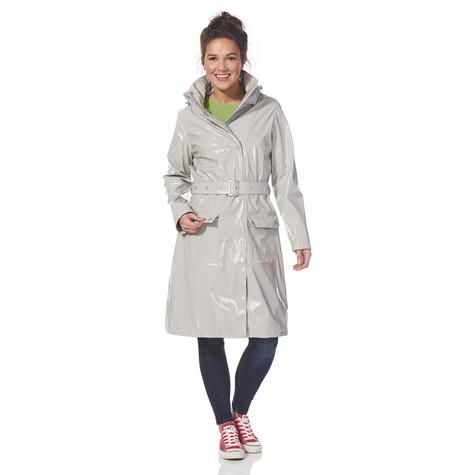 Happy Rainy Days Long lacquer raincoat Cara clay