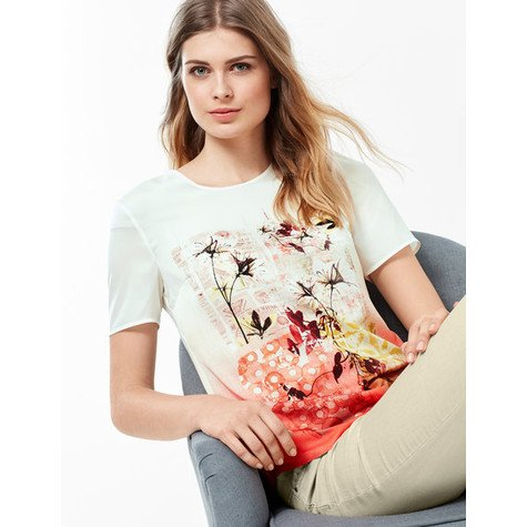 Gerry Weber BLOUSE TOP WITH A FRONT PRINT AND 1/2-LENGTH SLEEVES