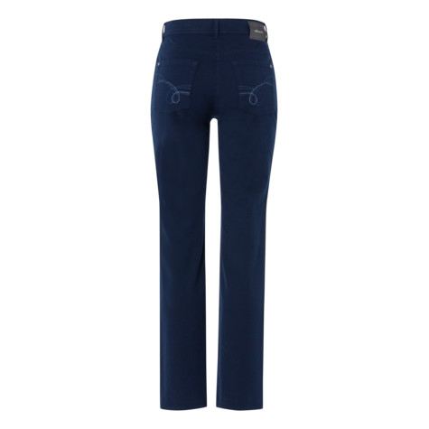 Olsen TROUSERS LISA STRAIGHT - NAVY