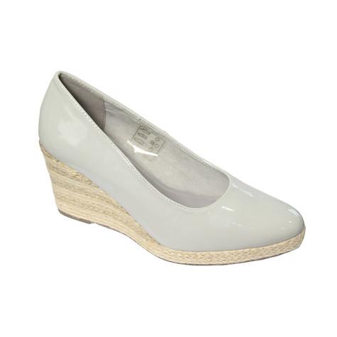 CORTINA Navy Patent Wedge Shoes