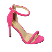 Millie & Co Pink Ankle Strap Open Toe Heel