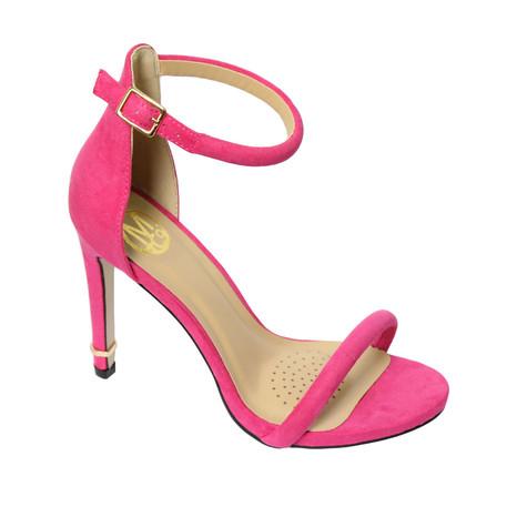 Millie & Co Pink Ankle Strap Open Toe Heel | Pamela Scott