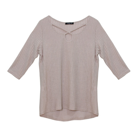 SophieB Rope Detail Light Shimmer Top