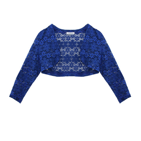 Zapara Royal Blue Lace Short Bolero