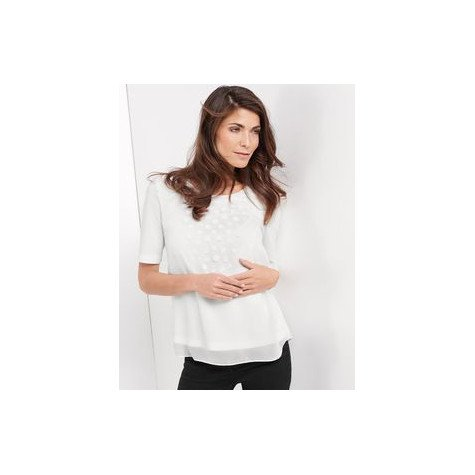 Gerry Weber APPLIQUÉD TOP WITH 1/2-LENGTH SLEEVES