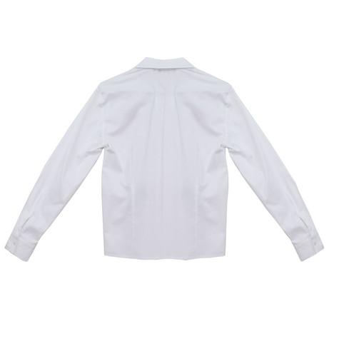 Twist Accessory Badge White Shirt