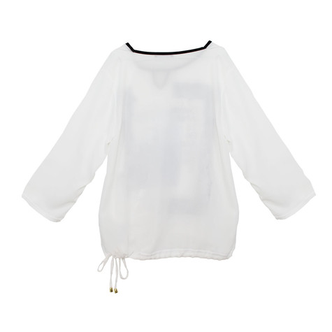 SophieB Easy Crepe Graphic Top