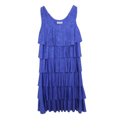 Zapara Royal Blue Layered Dress